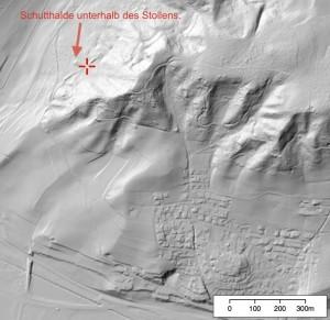 Oberflächenrelief beim Bergwerk von Elgg. (map.geo.admin.ch)