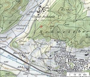 Aussschnitt aus der Landeskarte 1 : 25000. (map.geo.admin.ch)