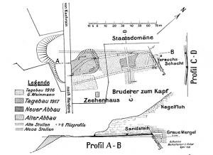 Lageplan des Bergwerkes von Herdern.