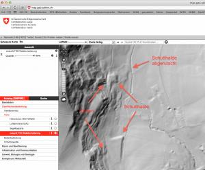Das Oberflächenrelief beim Bergwerk Riedhof. (map.geo.admin.ch)