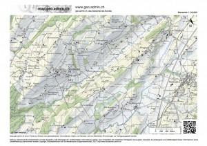 Ausschnitt aus der Landeskarte 1 : 25000. (map.geo.admin.ch)