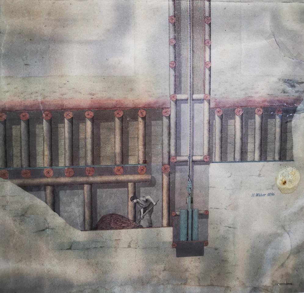 Zeichnung vom Schacht
